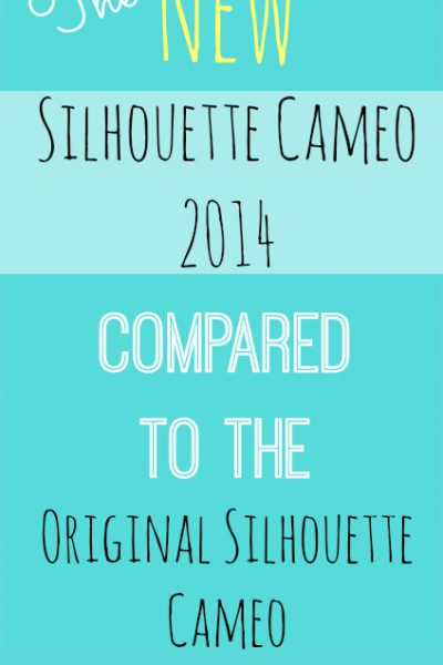 New Silhouette Cameo 2014 Compared to Original Silhouette Cameo