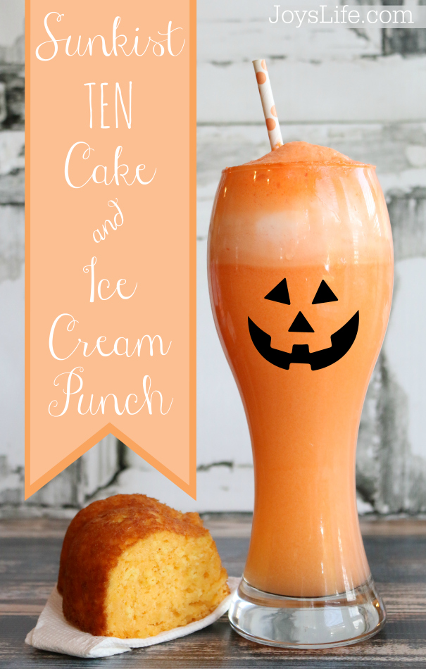 Sunkist Ten Cake & Ice Cream Punch #drinkTEN #CollectiveBias #shop #Halloween #Halloweenfood