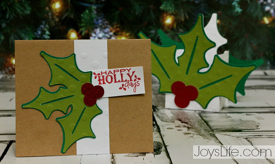 Happy HollyDays with Coredinations #SilhouetteCameo2 #Coredinations #JoysLifeStamps #Christmas #Holly #3d