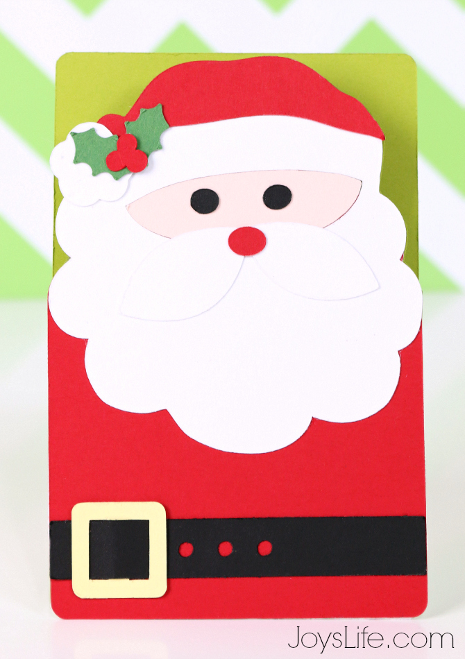 Quick easy santa card with xyron silhouette cameo 2 for Santa cards pinterest