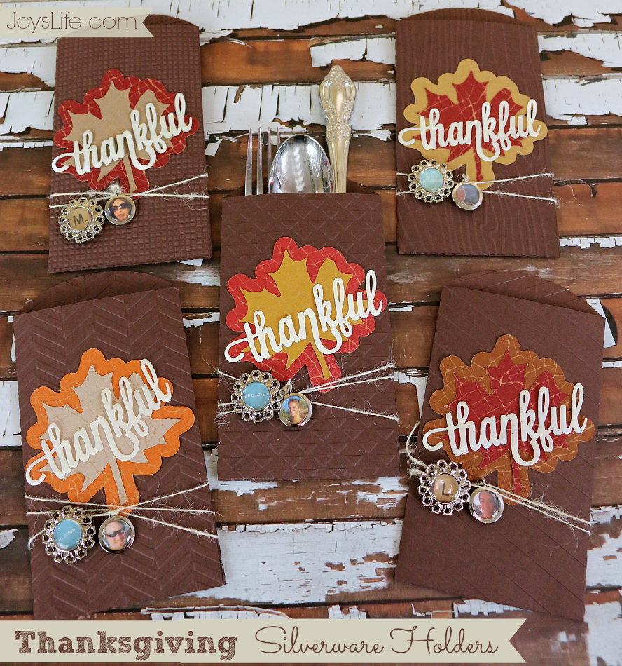 Thanksgiving Silverware Holders with Epiphany Crafts #Thanksgiving #EpiphanyCrafts #Tablescape #cutnboss #xyron