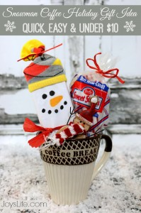 Snowman Coffee Holiday Gift Idea – Quick Easy & Under $10 #Snowman #Under$10 #Christmas #DollarGeneral