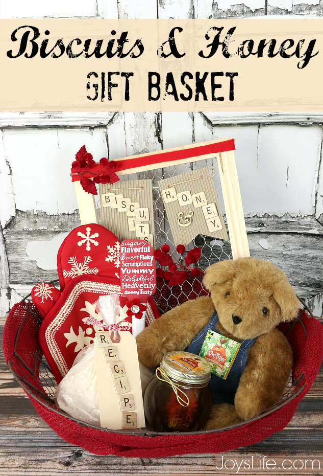Sweet & Delicious Honey and Biscuits Gift Basket Idea #HoneyForHolidays #DonVictor #shop #delicious #honey #giftbasket