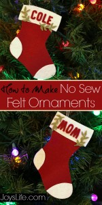 How to Make No Sew Felt Ornaments