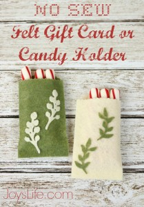 No Sew Felt Gift Card Candy Holder #Felt #Craftwell #CutNBoss