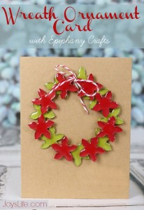 Wreath Ornament Card with Epiphany Crafts