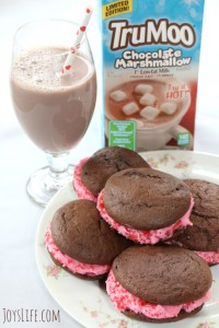 TruMoo Chocolate Marshmallow Whoopie Pies for Valentine's Day #TruMoo #ad