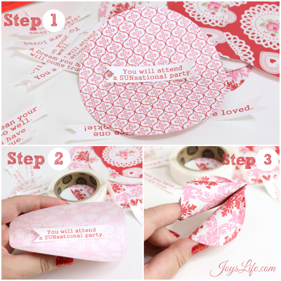 Valentine's Day Party Ideas & Paper Fortune Cookie Tutorial #CapriSunParties #Ad #SilhouetteCameo