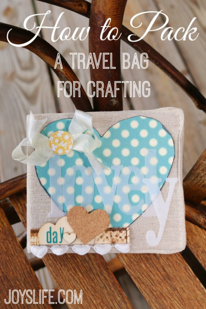 How to Pack a Travel Bag for Crafting #EpiphanyCrafts