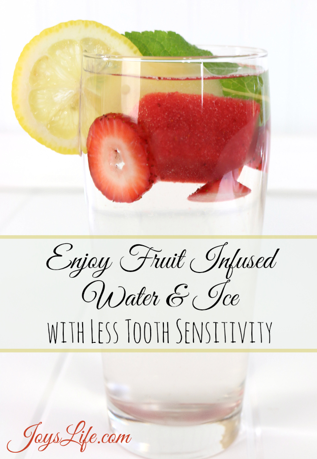 Enjoy Fruit Infused Water & Ice with less Tooth Sensitivity #AmopeLovesMoms #infusedwater #recipe #Ad