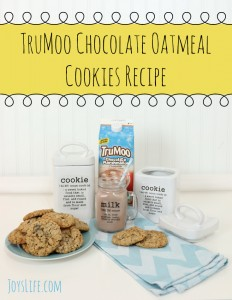 How to Personalize a Cookie Jar with the Silhouette Cameo & a TruMoo Chocolate Oatmeal Cookies Recipe #TruMoo #SilhouetteCameo #Cookie #Recipe