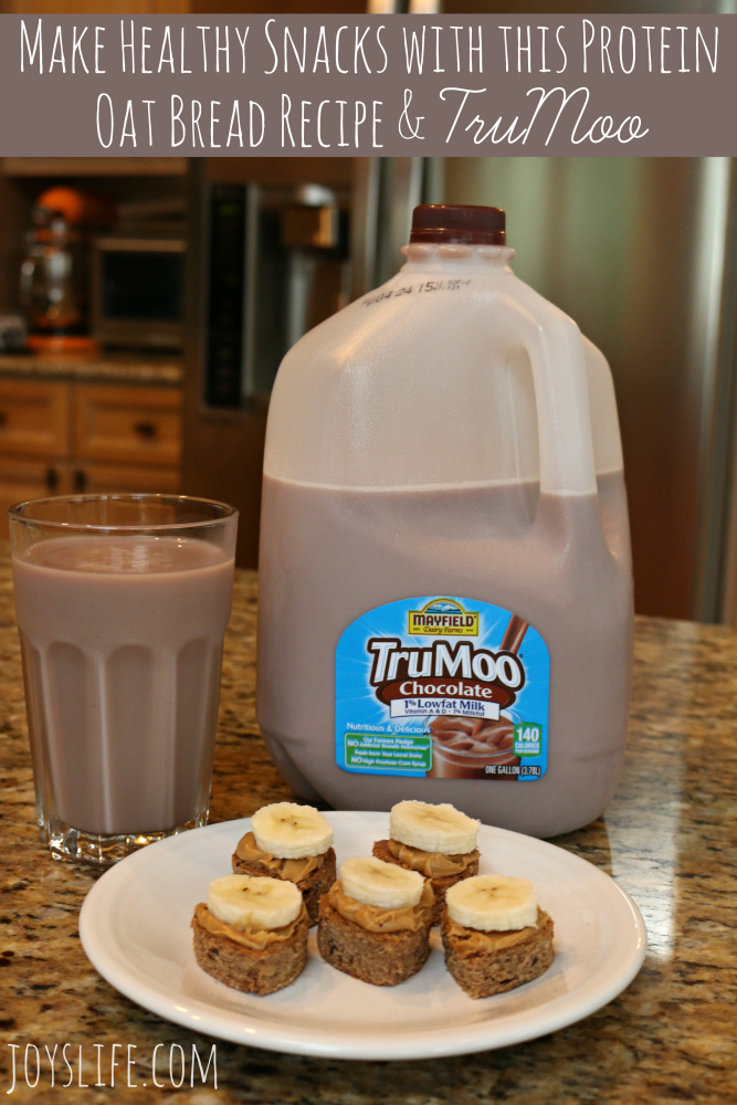 Make Healthy Snacks with this Protein Oat Bread Recipe & TruMoo