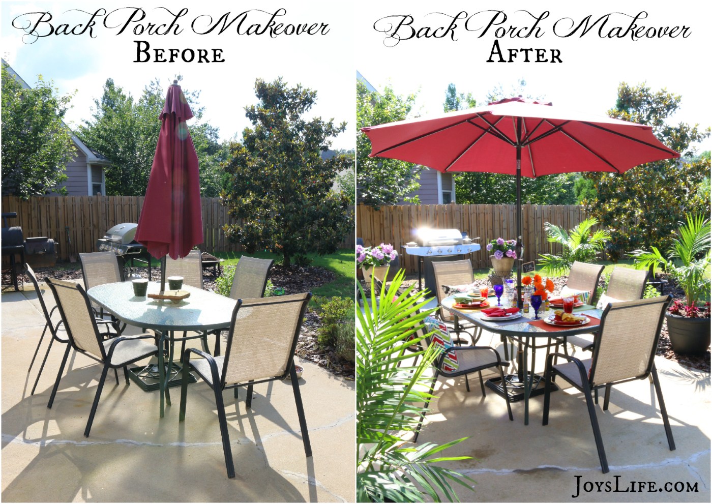 Back Porch Makeover Before and After #KingOfFlavor #Ad