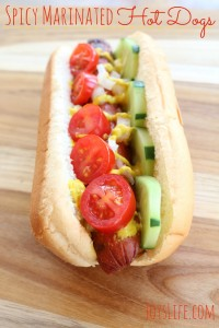 Spicy Marinated Hot Dogs #WhatAGrillWants AD #recipe