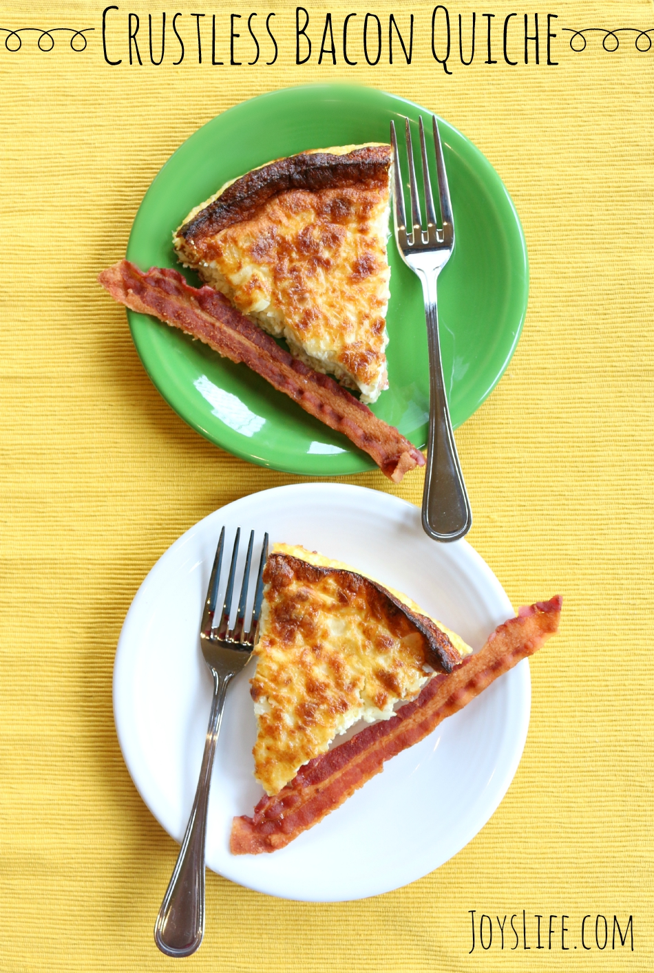 Crustless Bacon Quiche #raiseyourmitt #familymealsmonth