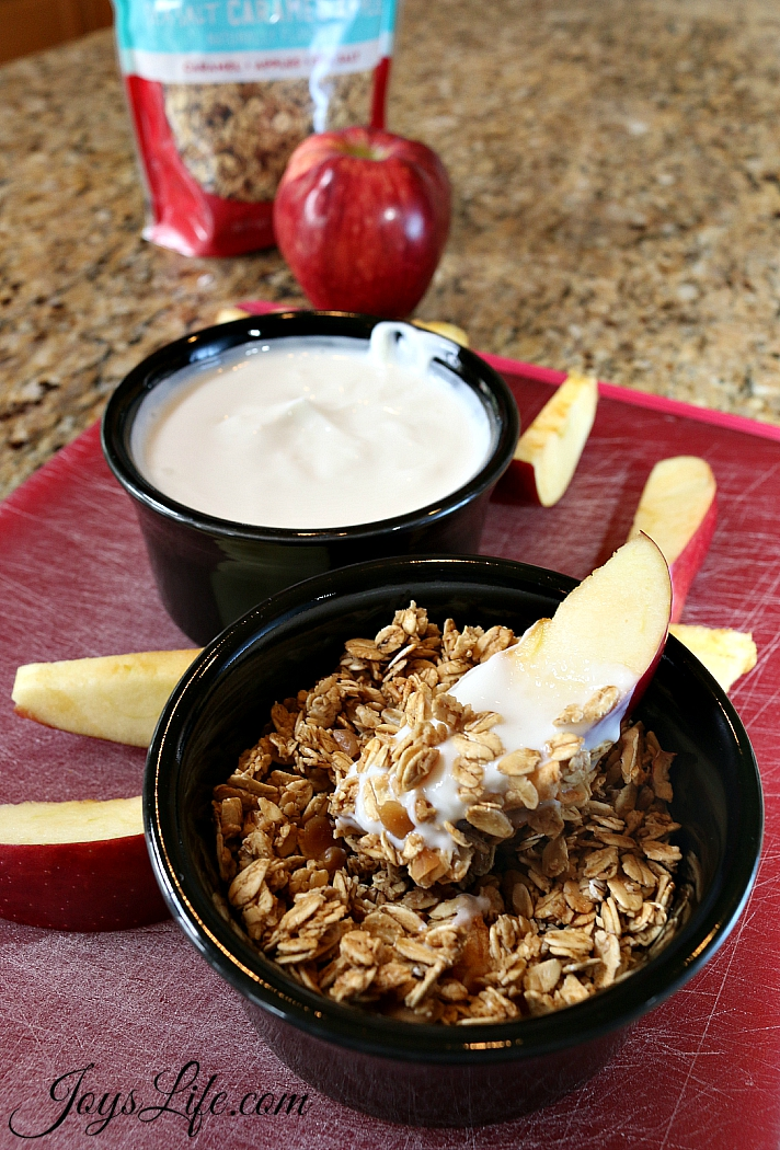 Granola & Yogurt Dipped Frozen Apple Slices #FueledByGranola #Ad