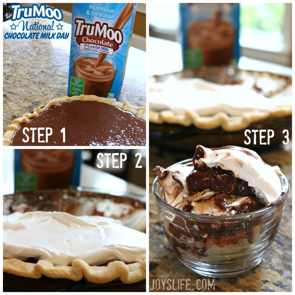 Make a Deconstructed Chocolate Pie for National Chocolate Milk Day #NationalChocolateMilkDay or any day!