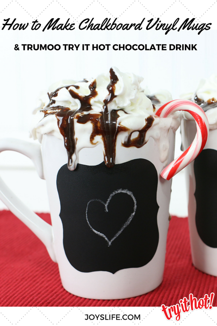 How to Make Chalkboard Vinyl Mugs #TryItHot #TruMoo #ad #chalkboard #mug