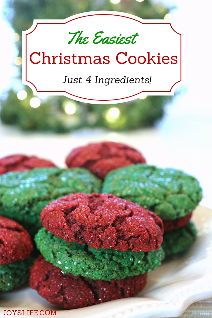 the easiest christmas cookies ever just 4 ingredients joys life - Making Christmas Cookies