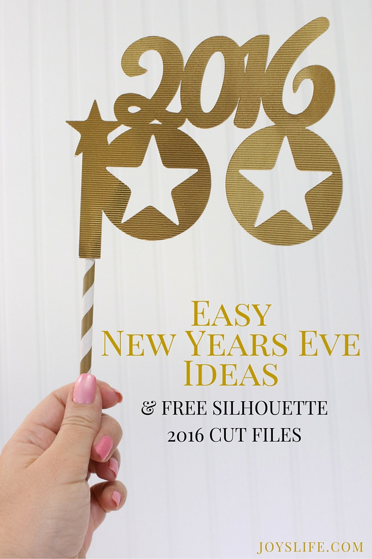 FREE New Years Eve Silhouette 2016 Cut Files