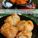 Puff Pastry Stuffed Cheesy Buffalo Chicken Bites Recipe