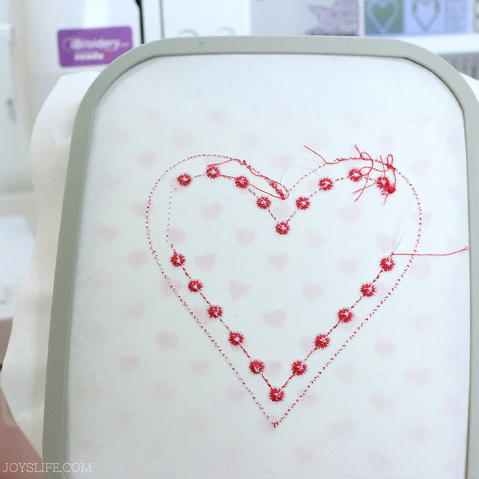 Heart Banner In the Hoop Embroidery - A step by step tutorial