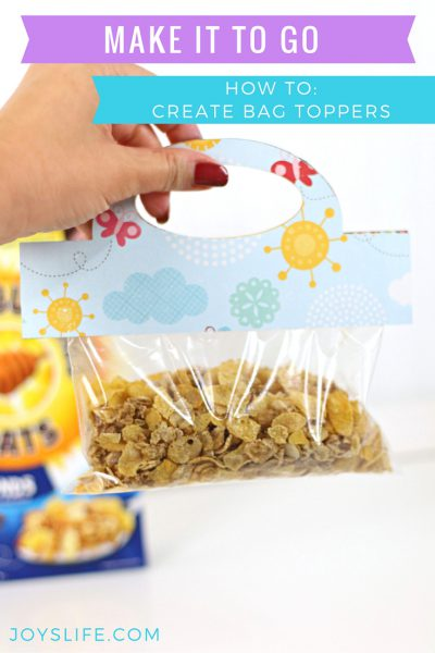 How to Create Bag Toppers using Cereal Boxes