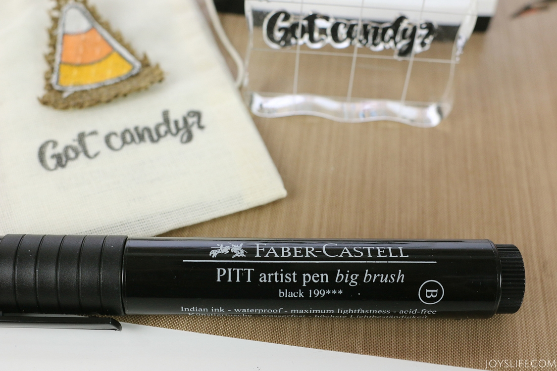 faber castell big brush color in stamp on fabric