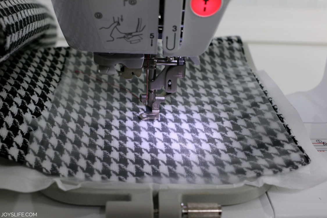 houndstooth embroidery stabilizer layers