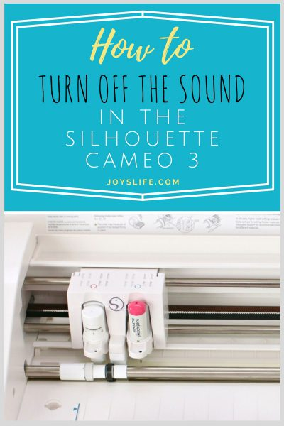 How to Turn off the Sound in the Silhouette Cameo 3