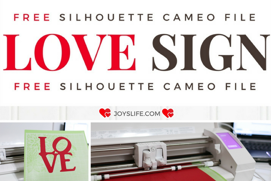 Love Sign Free Valentine's Day Silhouette Cameo Cut File