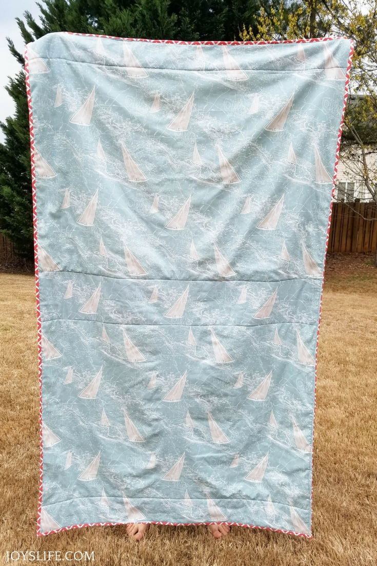 Picnic blanket blue sailing duck cloth canvas material front