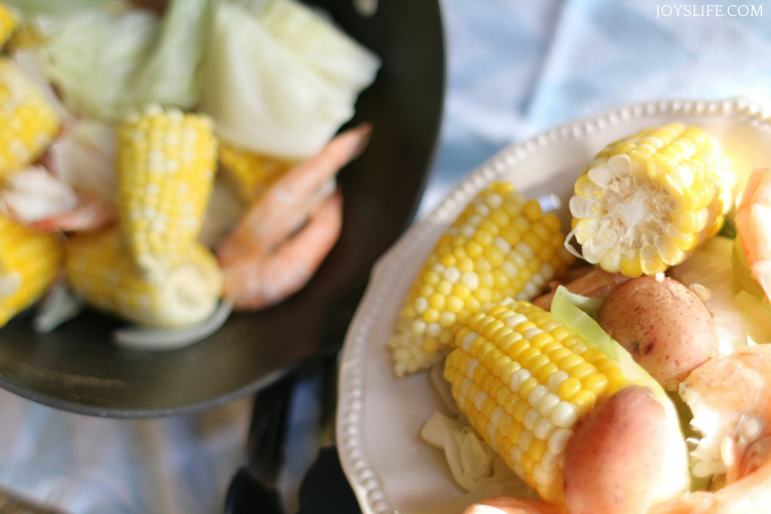beer shrimp corn