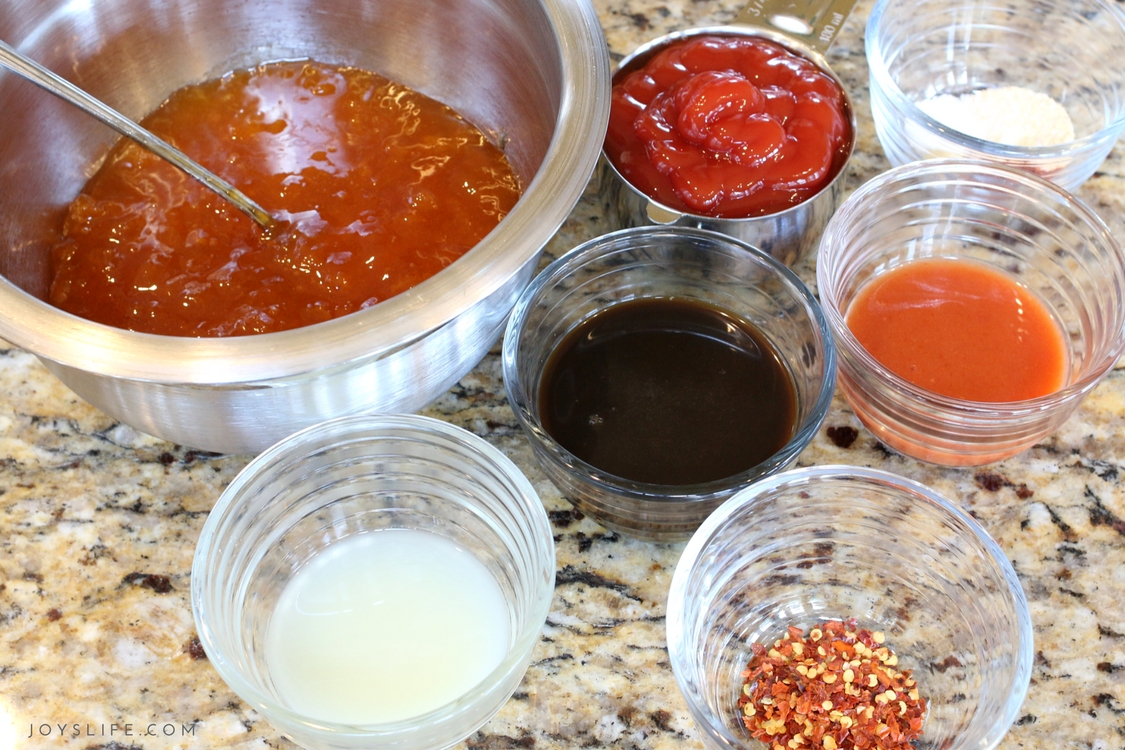 Spicy Apricot Dipping Sauce ingredients
