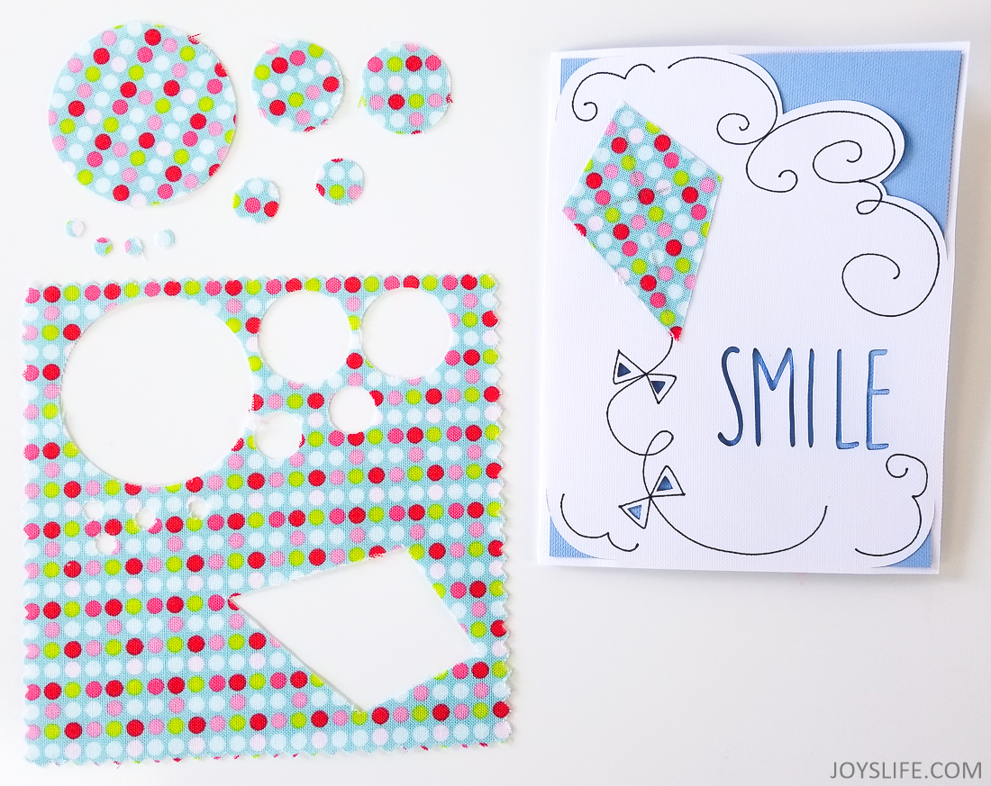 Cricut Maker circles fabric card