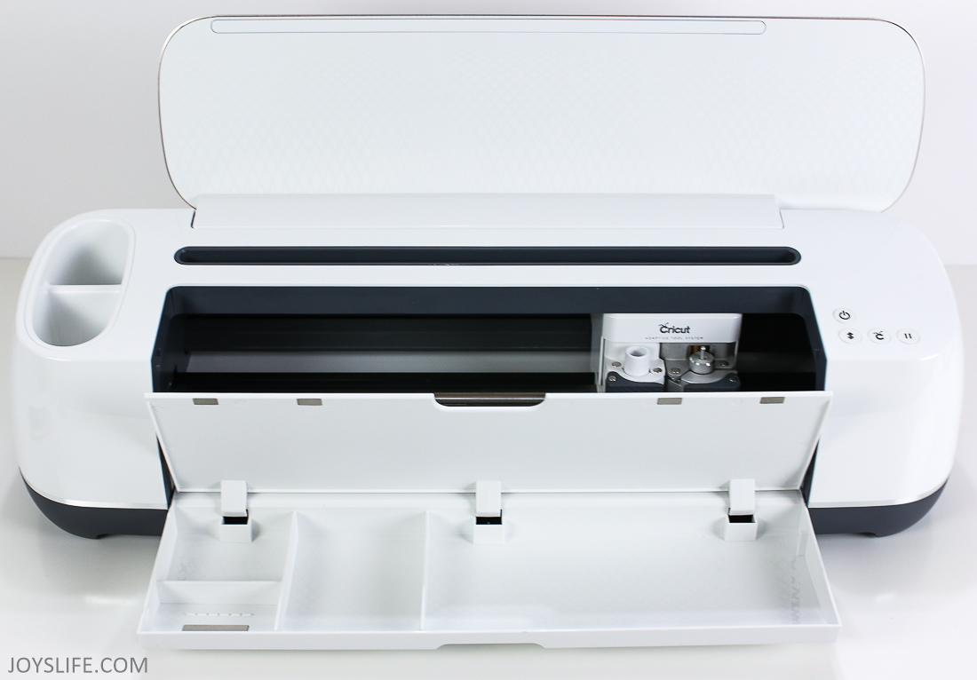 Cricut Maker Machine tool tray open