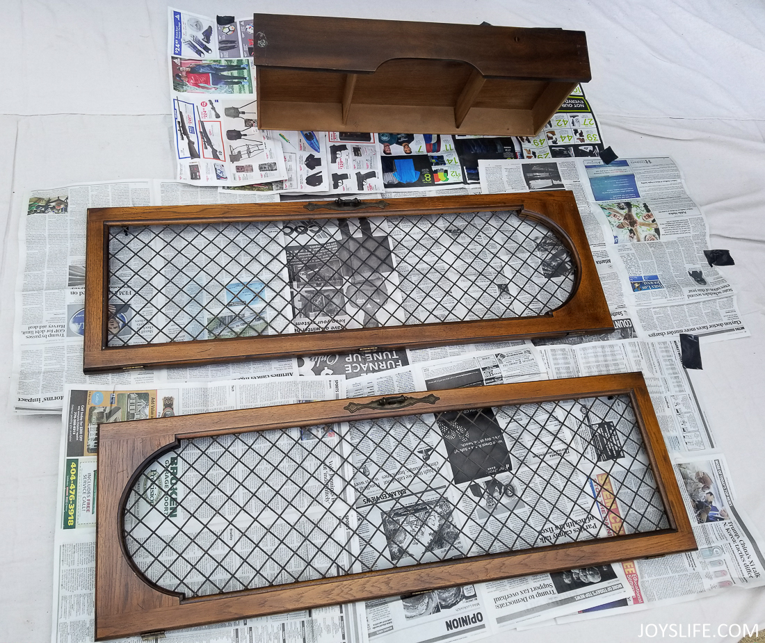 china cabinet doors before paint