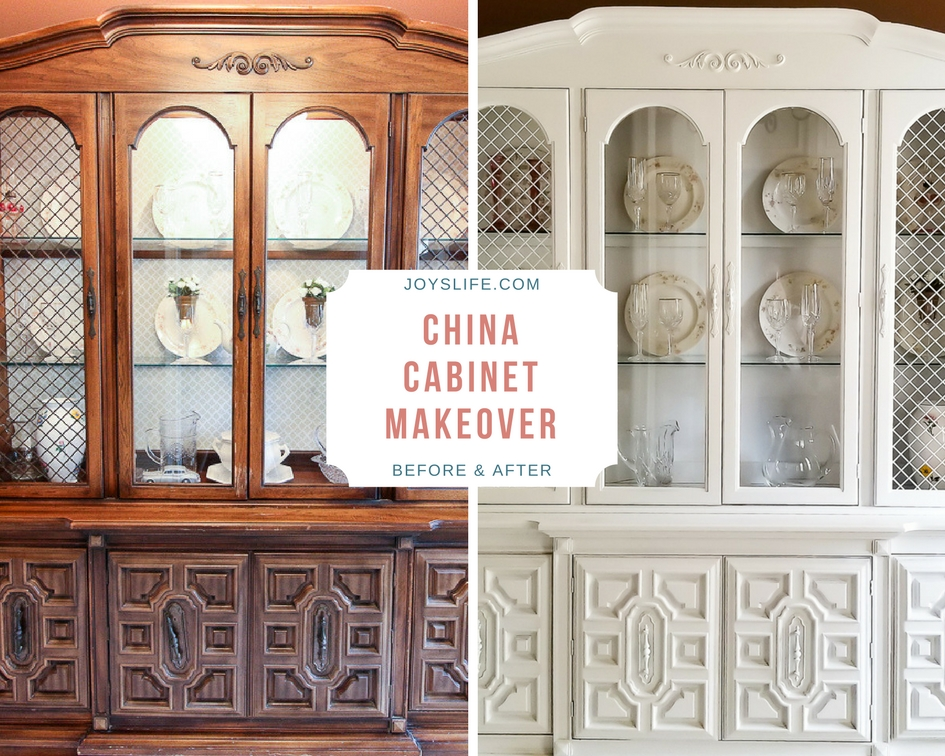 China Cabinet Makeover Before After