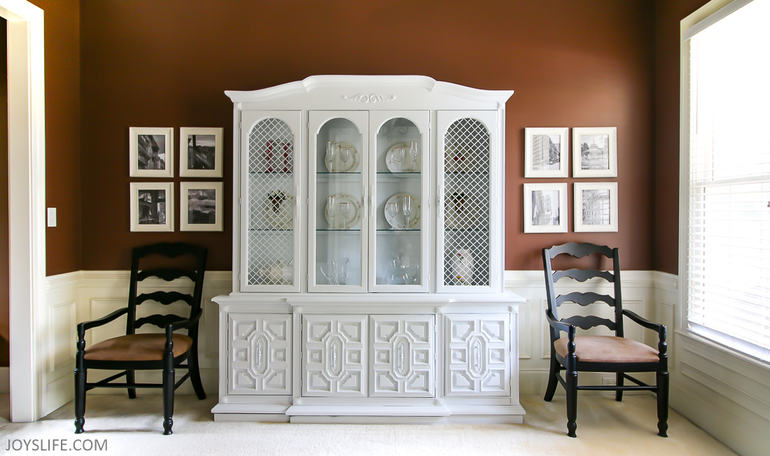 China Cabinet Makeover After