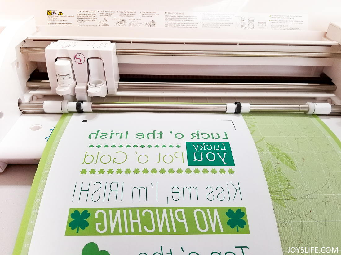 Cutting Silhouette Heat Transfer Printable Material with the Silhouette Cameo 3
