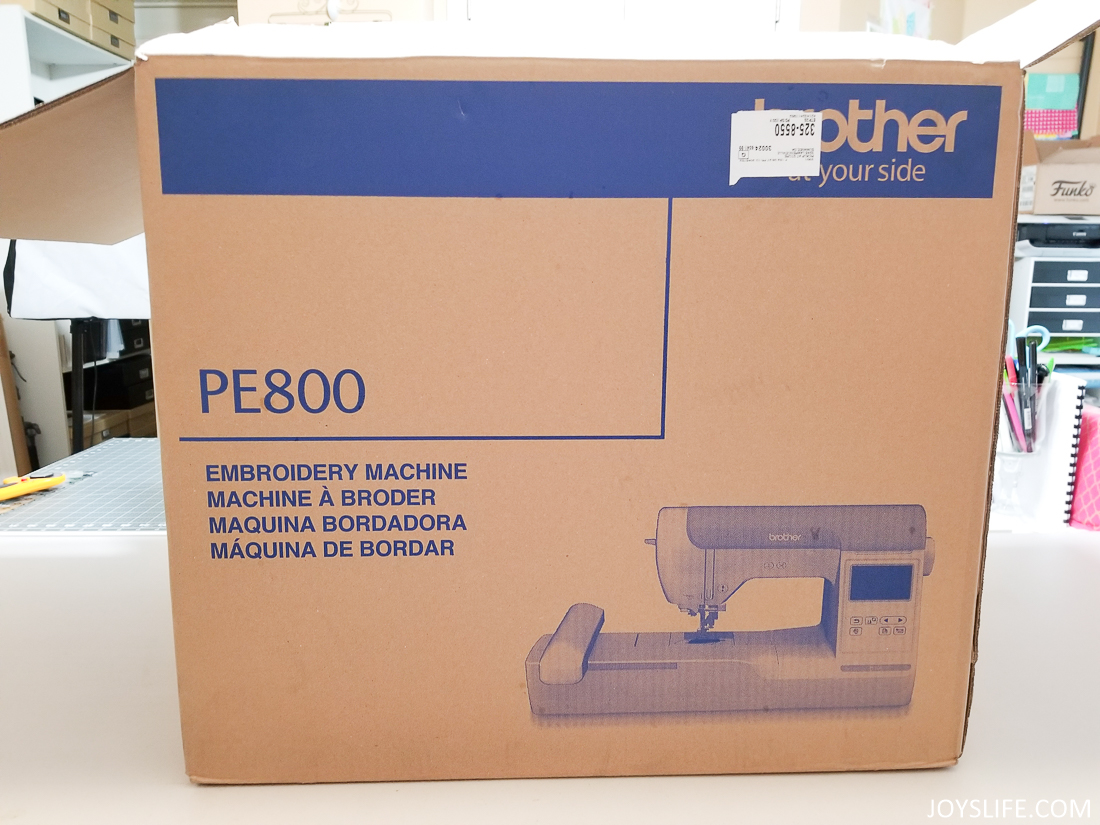 Brother PE 800 box #brotherPE800 #embroidery #machineembroidery