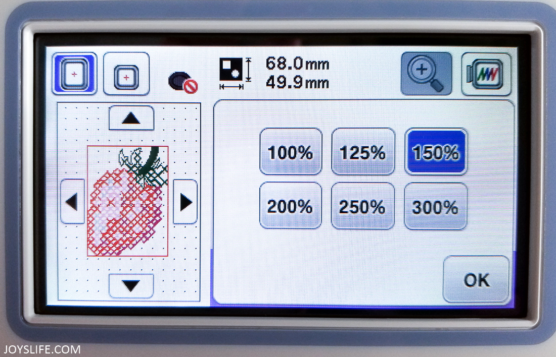 Brother PE800 screen #brotherPE800 #embroidery #machineembroidery