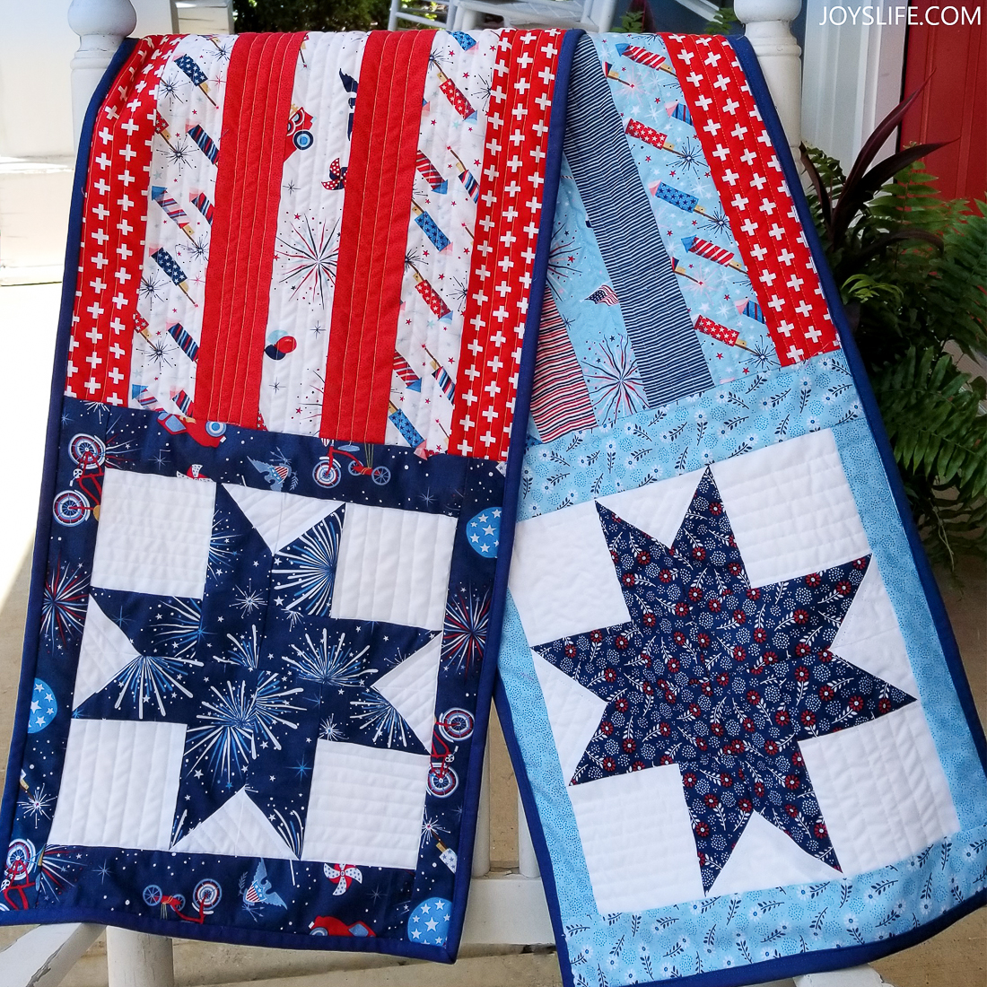 Stars and Stripes Table Runner joyslife covered porch