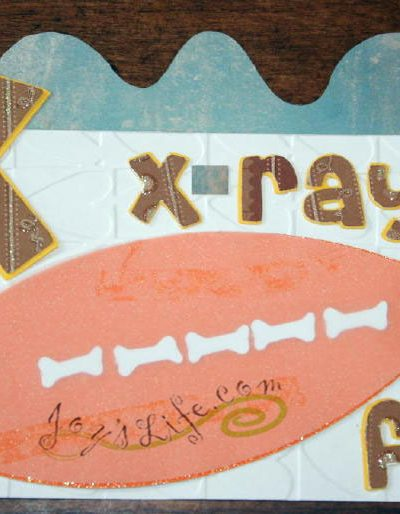X is for x-ray fish for Cricut ABC book at joyslife