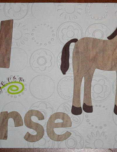 H is for Horse, including letters I & J for Cricut ABC book at joyslife