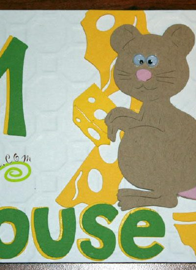 M is for Mouse for Cricut ABC book at joyslife