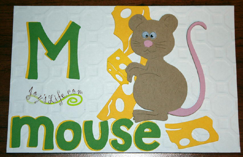 "Joy's Life ABC Book Cricut Cuttlebug Project ""K"" Kangaroo ""L"" Lion ""M"" Mouse"