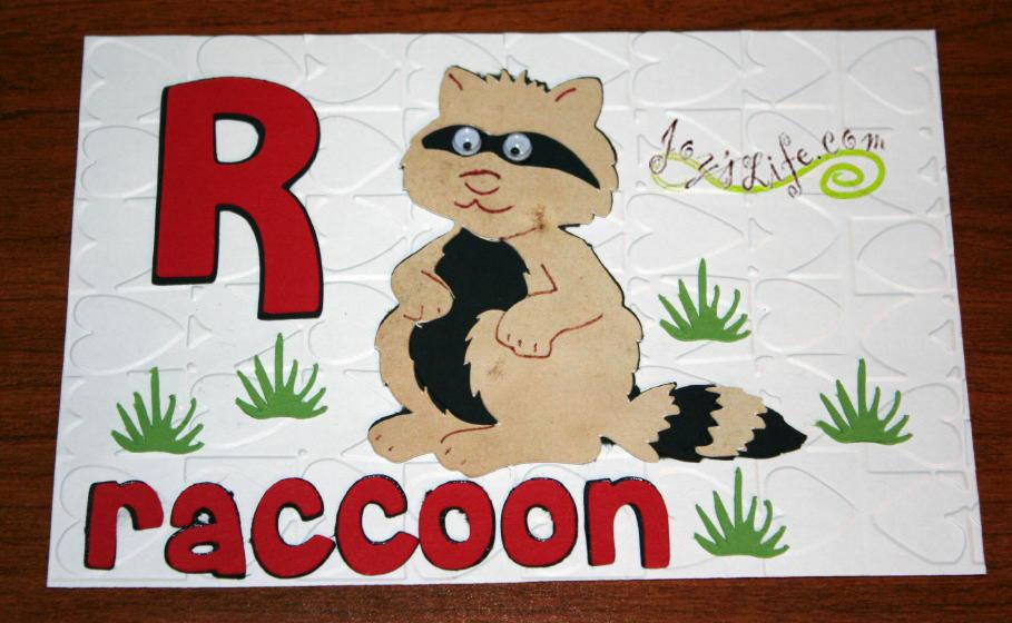 "Joy's Life ABC Book Cricut Cuttlebug Project ""Q"" Queen Bee ""R"" Raccoon ""S"" Snake"