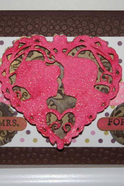 Mr. & Mrs. Forever Card - Valentine Love Struck Cricut