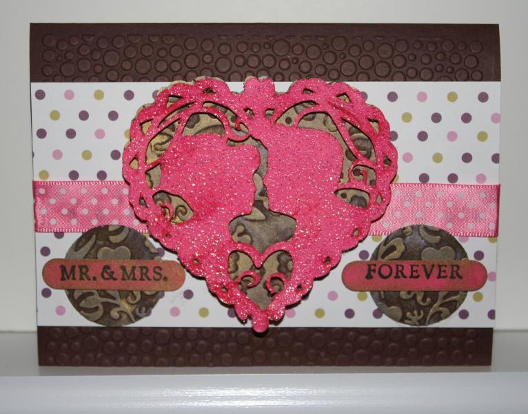 Mr. & Mrs. Forever Card – Valentine Love Struck Cricut